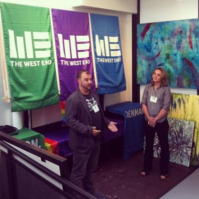 """@westendbia: """".@PaulNixey and @JillBendz introduce the new @WestEndBIA brand. #westendyvr"""""""