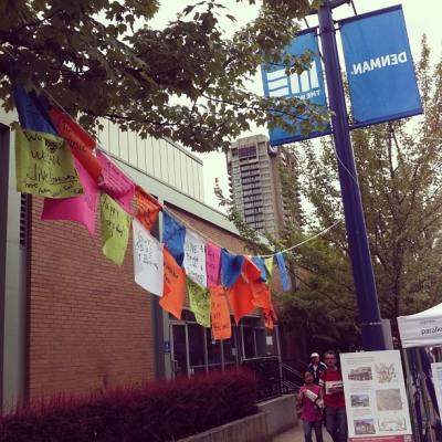 """@westendbia: """"The makings of a #westendquilt. #carfreeday #westendyvr"""""""