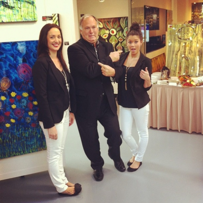 "@westendbia: ""BIA Board President John Nicholson with Rebecca and Stephanie"