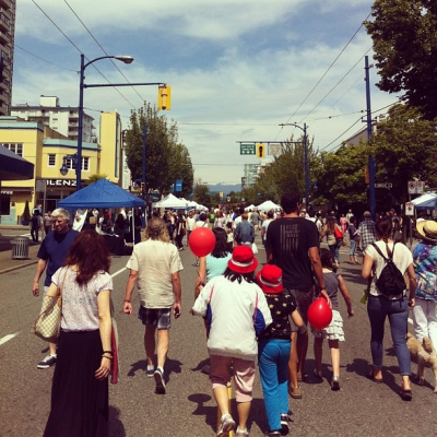 "@westendbia: ""Great crowd at #CarFreeDay today! #westendyvr"""