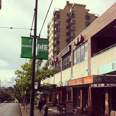 """@westendbia: """"Our new banners are up along #RobsonStreet! What do"""