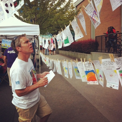 "@westendbia: ""Executive Director Stephen Regan looking through the entries of"