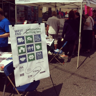 "@westendbia: ""The #WestEndQuilt booth is where the action is today!"