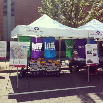 """@westendbia: """"Our booth at @CarFreeWestEnd is open for business! Check"""