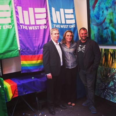 "@westendbia: ""Executive Director Stephen Regan, @JillBendz, and @PaulNixey posing with"