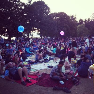 "@westendbia: ""Fantastic crowd out tonight for @OutdoorMoviesBC's presentation of Mamma"