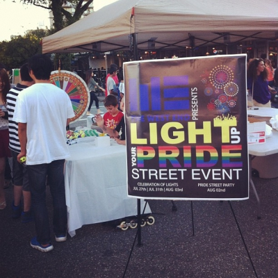 "@westendbia: ""The #westendyvr Street Teams Light Up Your Pride booth"
