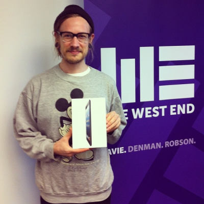 "@westendbia: ""Congratulations to Daniel Tatterton for winning our summer iPad"