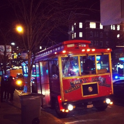 """@westendbia: """"The #ShineShopDine @VanTrolley is outside of the Wall Centre!"""