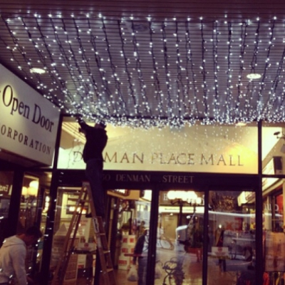 "@westendbia: ""The holiday lights are going up at @DenmanPlaceMall just"