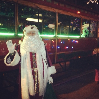 """@westendbia: """"Head to the #shineshopdine trolley in front of the"""