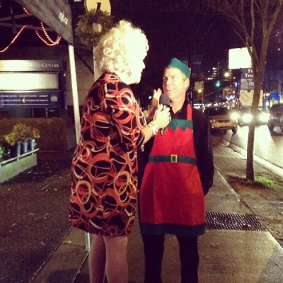 "@westendbia: ""Diva Conni Smudge interviewing Executive Director Stephen Regan for"