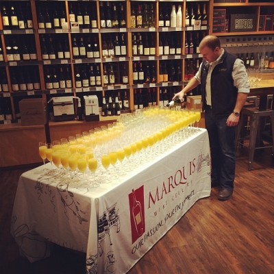 "@westendbia: ""Mimosas being poured at @MarquisWineCell for @vanfoodster's #vfwestendbrunch this"