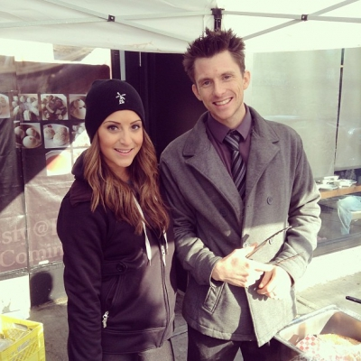 """@westendbia: """"Justine and Mike serving up some delicious pannekoeken at"""