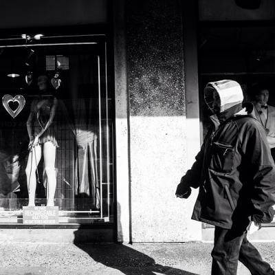 "@westendbia: ""Shadow play in Davie Village #WestEndYVR #WeAmaze #StreetPhotography #BW"""