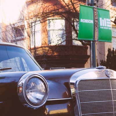 """@westendbia: """"Spotted this classic on lower Robson. #WestEndYVR #WeAmaze #Mercedes230"""""""
