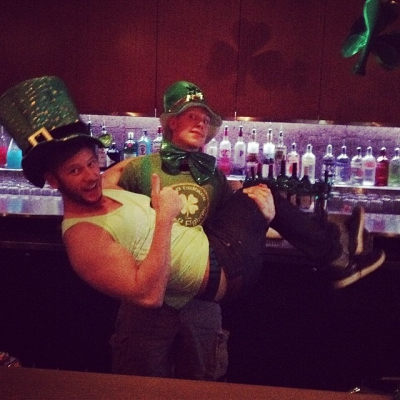 "@westendbia: ""This @QueerImprov leprechaun didn't find the #WestEndRainbow underneath Ryan"