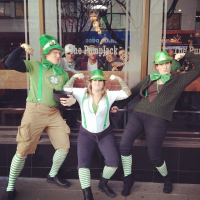 "@westendbia: ""Getting closer, getting closer! #westendrainbow #westendyvr #davievillage #stpatricksday"""