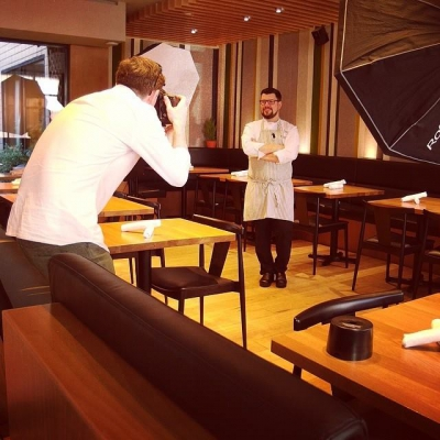 "@westendbia: ""Say cheese, @chefwhittaker! @nelsonmouellic stopped by @foragevancouver today to"