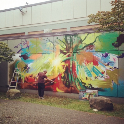 "@westendbia: ""West End artist Steve Hornung is working on a"