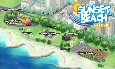 Pride's Sunset Beach Festival Map