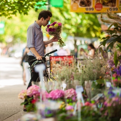 "@westendbia: ""Look who we spotted shopping for flowers on Robson"