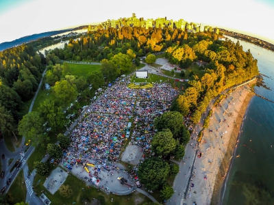 Amazing Aerial Shot from the Chevron Summer Cinema Series