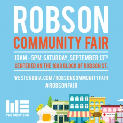 The first annual Robson Community Fair launches September 13