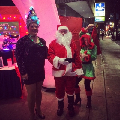 "@westendbia: ""Santa and Mrs. Drag Claus (aka @AmandaPushawn) are at"