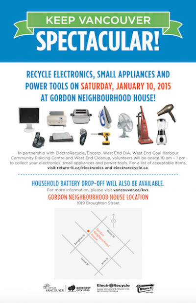 Electronics Recycling at Gordon Neighbourhood House