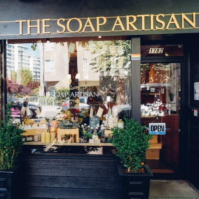 "@westendbia: ""Visit @thesoapartisan on Alberni (at Denman) for amazing handmade"