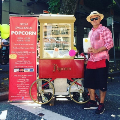 "@westendbia: ""Awesome to have John Merzetti's @popcornattheprk with today at"