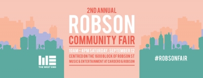 Robson Community Fair is September 12