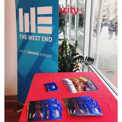 "@westendbia: ""Come by @vancity at the corner of Robson and"