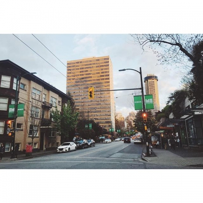 "@westendbia: ""Gorgeous evening last night on Robson Street. Dinner at"