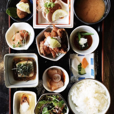 "@westendbia: ""Lunch special today – the legendary @kingyo_izakaya Bento Box."