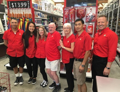 "@westendbia: ""It's opening day at Davie Village Home Hardware! Stop"