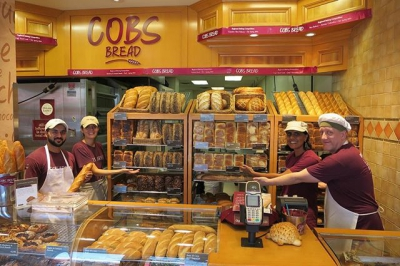 "@westendbia: ""The baking team at @COBSBread on Davie Street was"