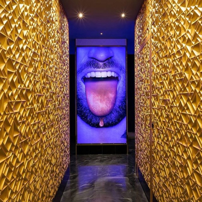 "@westendbia: ""Provocative art work, spectacular golden decor and an impressive"