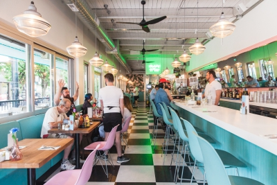 A colorful look at the all-new Mary's on Davie