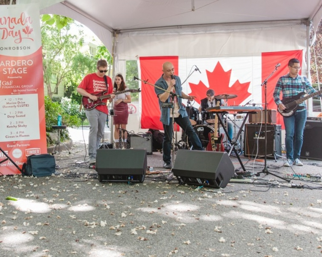 Canada Day on Robson